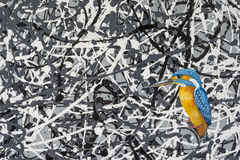 Oil Painting of a Kingfisher Stock Photography