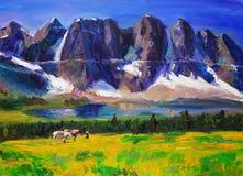 Oil Painting - Landscape Stock Images