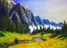 Oil Painting - Landscape Royalty Free Stock Photos