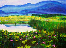 Oil Painting - Landscape Stock Photography