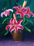 Oil-Painting - Lily Stock Photography