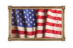 Oil painting of old glory Stock Photo