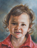 Oil painting of a peaceful baby Stock Photography