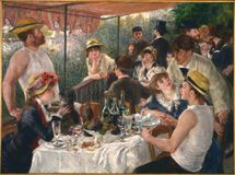 Pierre-auguste Renoir-luncheon Of The Boating Party stock photos