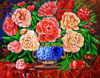 Oil Painting - Rose  Stock Photo