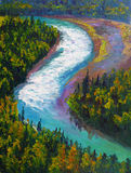 Oil Painting - Rushing Stream Royalty Free Stock Images