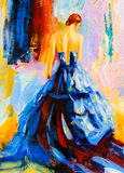 Oil Painting - Spanish Dancer Stock Images