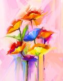 Oil painting of spring flower Stock Images