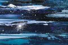 Starry sky night oil royalty free illustration