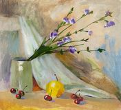 Oil Painting Still Life Royalty Free Stock Image