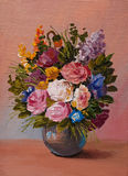 Oil Painting - still life, a bouquet of flowers Stock Images