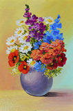 Oil Painting - still life, a bouquet of flowers Royalty Free Stock Photos