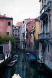Oil painting style picture of small canal in Venice Stock Images