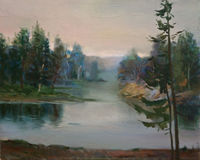 Landscape Oil Painting Royalty Free Stock Photos