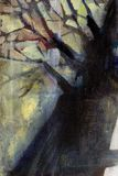 Oil painting tree vector illustration