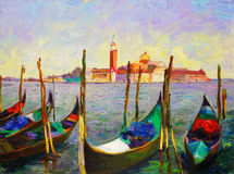 Oil Painting - Venice, Italy. Oil Painting about Venice, Italy Royalty Free Stock Image