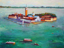 Oil Painting - Venice, Italy Stock Image