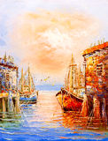 Oil Painting - Venice, Italy Royalty Free Stock Photography
