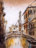 Oil Painting - Venice, Italy Royalty Free Stock Photo