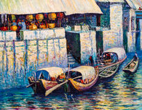 Oil Painting - Venice, Italy Stock Photography