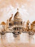 Oil Painting - Venice, Italy Stock Photos