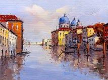 Oil Painting - Venice, Italy Royalty Free Stock Photos