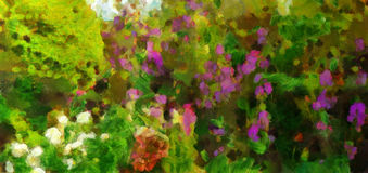 Oil painting wildflowers on a summer. Day Royalty Free Stock Photo
