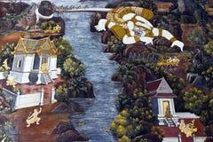 Oil paintings, Hanuman Royalty Free Stock Photography