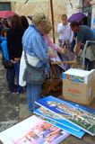 Oil paintings shopping in Dubrovnik Stock Photos