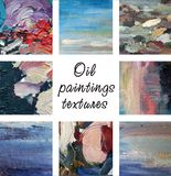 Oil paintings textures Royalty Free Stock Image