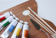 Oil paints set Stock Image