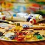 Oil paints Stock Images