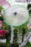 Oil Paper Umbrella Garden Display Stock Images