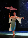An oil paper umbrella-national dance Royalty Free Stock Photo