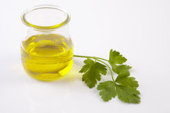 Oil and parsley Royalty Free Stock Image