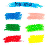 Oil pastel banners Royalty Free Stock Images