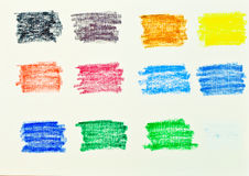 Oil pastel colors Stock Photos