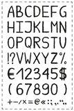 Oil pastel crayon alphabet Stock Photo