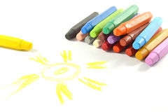 Oil pastel Stock Photography