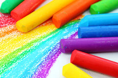 Oil Pastel Crayons stock photos