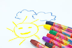 Oil Pastel Crayons Stock Photo