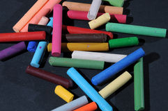 Oil pastel crayons Stock Image