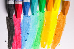 Oil Pastel Crayons Royalty Free Stock Photo