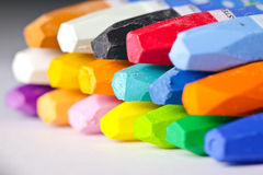 Oil Pastel Crayons Royalty Free Stock Photography