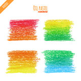 Oil pastel rainbow background Stock Photo