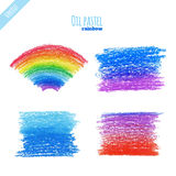 Oil pastel rainbow background Stock Photos