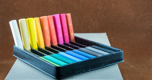 Oil pastel sticks Royalty Free Stock Photo