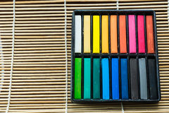 Oil pastel sticks Royalty Free Stock Photos