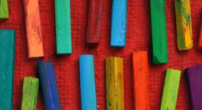 Oil pastels Royalty Free Stock Photos