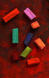 Oil pastels Stock Images